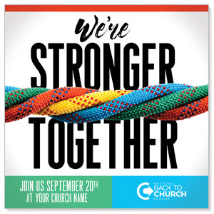 "BTCS Stronger Together 4"" x 4"" Square InviteCards"