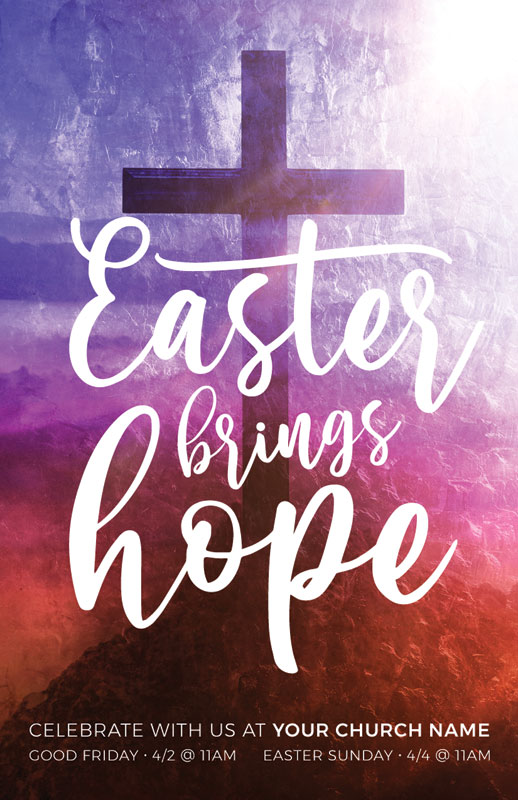 InviteCards, Easter, Easter Brings Hope Cross, 4.25 x 2.75