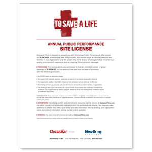 To Save A Life License Renewal Standard Movie License Renewals