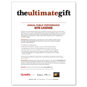 The Ultimate Gift License Renewal Stnd Movie License Renewals
