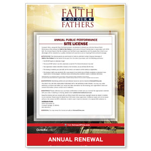Faith of Our Fathers Renewal License Movie License Renewals