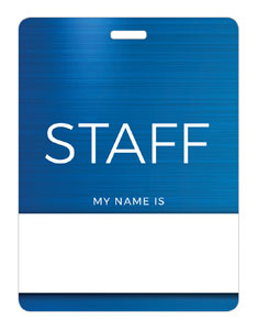 General Blue Staff Name Badges