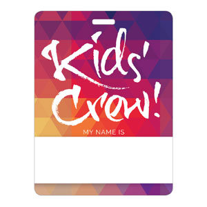 Geometric Bold Kids Crew Name Badges