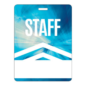 Chevron Blue Staff Name Badges