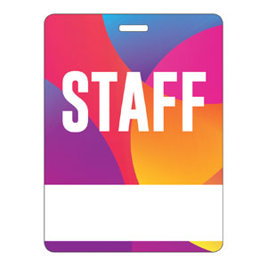 Curved Colors Staff Name Badges