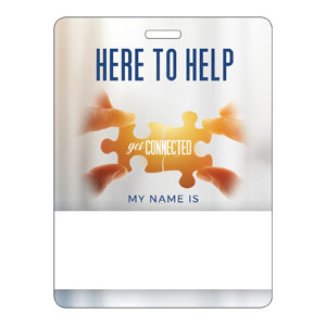 Connected Here to Help Name Badges
