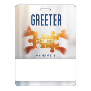 Connected Greeter Name Badges