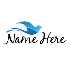 Dove Flow Semi Custom Logo Logo