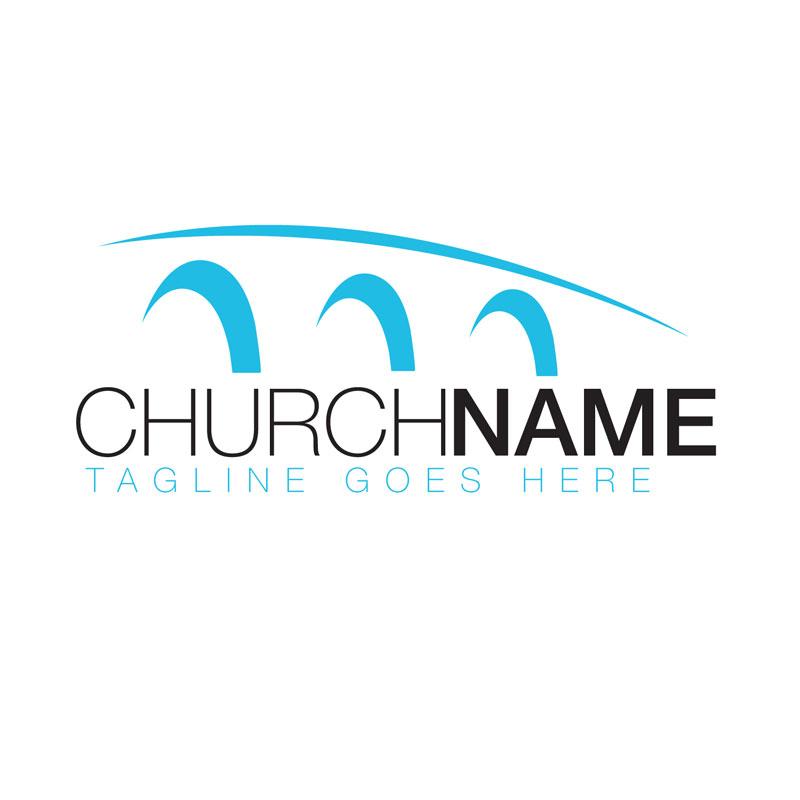 Arch Bridge Semi Custom Logo