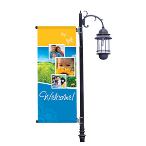 Summer Path Light Pole Banners