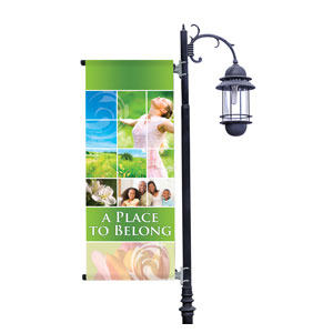 Belong Spring Light Pole Banners