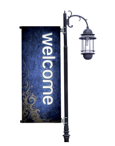 Adornment Welcome Light Pole Banners