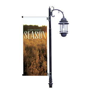 New Season Fall Light Pole Banners