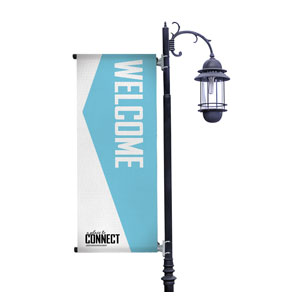 Place to Connect Welcome Light Pole Banners