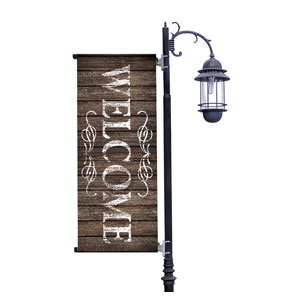Rustic Charm Welcome Light Pole Banners