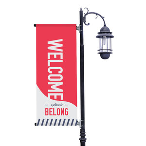 To Belong Red Light Pole Banners