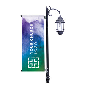 Celebrate Watercolor Logo Light Pole Banners