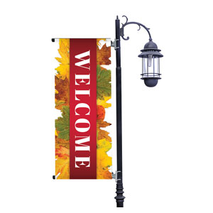 Leaves Youre Invited Light Pole Banners