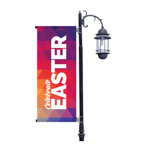 Geometric Bold Easter Light Pole Banners