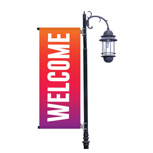 Welcome Bold Abstract Light Pole Banners