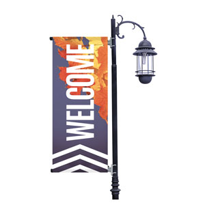 Chevron Welcome Fall Light Pole Banners