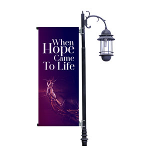 Hope Came to Life Light Pole Banners