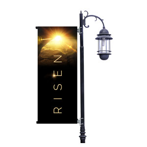 Risen Light Tomb Light Pole Banners