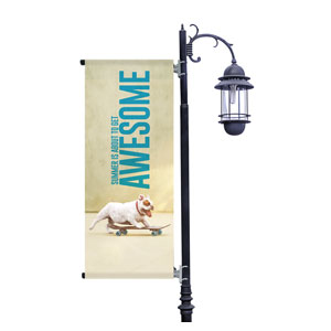 Awesome Summer Dog Light Pole Banners