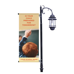 Prepared For Tomorrow Enroll Light Pole Banners