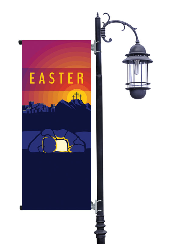 Banners, Easter, Easter Sunday Graphic, 2' x 5'