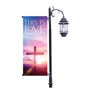 Love Easter Colors Light Pole Banners