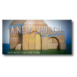 "Church Building Blocks 11 x 5.5 Oversized Postcard 11"" x 5.5"" Oversized Postcards"