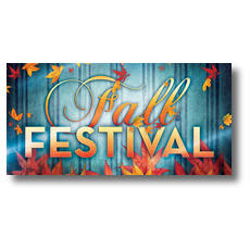 Fall Fest Blue XLarge Postcard