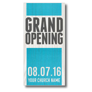 "Grand Opening Wood  11 x 5.5 Oversized Postcard 11"" x 5.5"" Oversized Postcards"