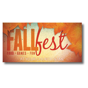 Fall Fest Orange XLarge Postcards