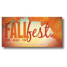 Fall Fest Orange XLarge Postcard