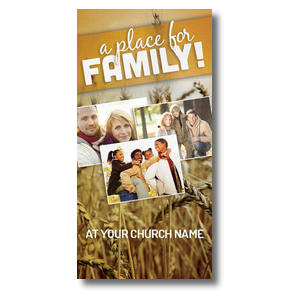 "A Place for Family Fall  11 x 5.5 Oversized Postcard 11"" x 5.5"" Oversized Postcards"