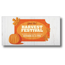 Join Us Harvest Festival XLarge Postcard