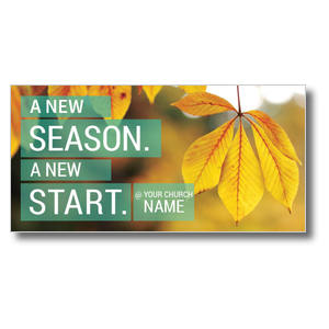 New Season New Start XLarge Postcards