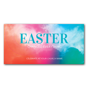 Easter Color Church Postcards