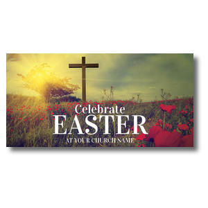 Celebrate Easter Cross XLarge Postcards