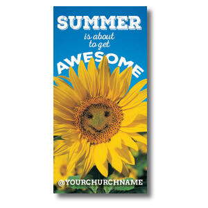 "Summer is Awesome  11 x 5.5 Oversized Postcard 11"" x 5.5"" Oversized Postcards"