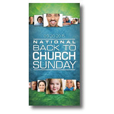 Back to Church Sunday 2015 XLarge Postcard