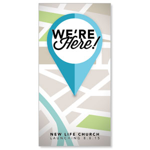 "We Are Here 11"" x 5.5"" Oversized Postcards"