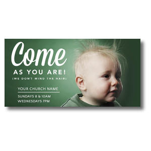 "Baby Bed Head 11"" x 5.5"" Oversized Postcards"