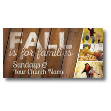 Fall Families XLarge Postcard