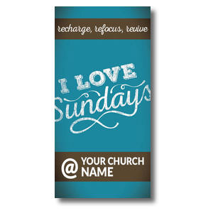 I Love Sundays At Church Postcards