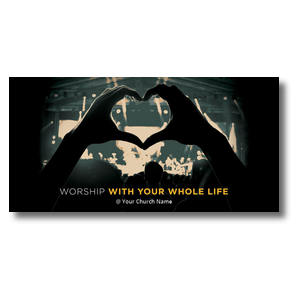 "Worshiper Heart XLarge Postcard 11"" x 5.5"" Oversized Postcards"