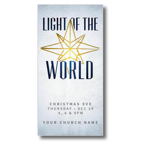 "Light of the World Star 11"" x 5.5"" Oversized Postcards"