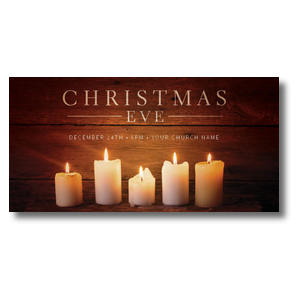 White Candles XLarge Postcards